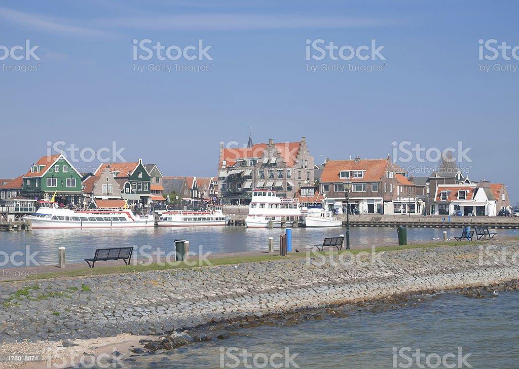 Volendam,Ijsselmeer,Netherlands stock photo