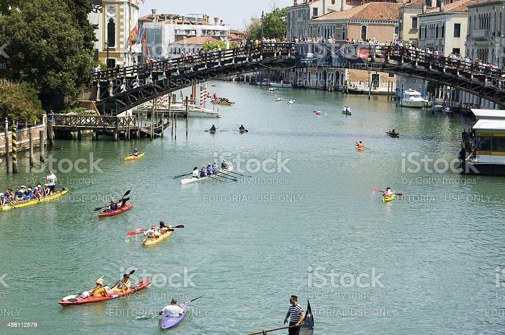 Volgalonga Regatta, Venice royalty-free stock photo
