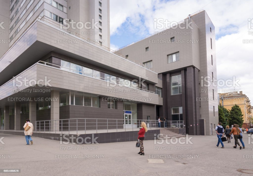 Volgograd. Russia - May 11 2017. The building of the new building of the Volgograd State Technical University in the central area of the city of Volgograd stock photo