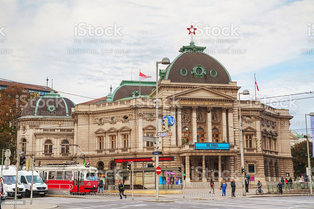 Volkstheater in Vienna, Austria in the morning stock photo