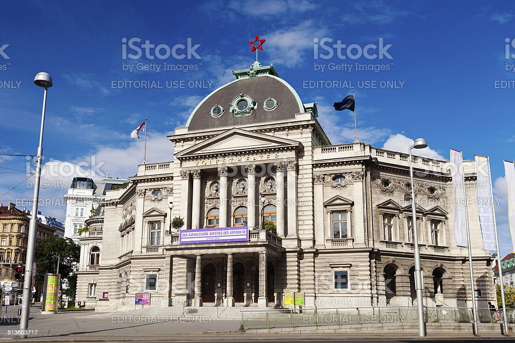 Volkstheater In Vienna, Austria stock photo