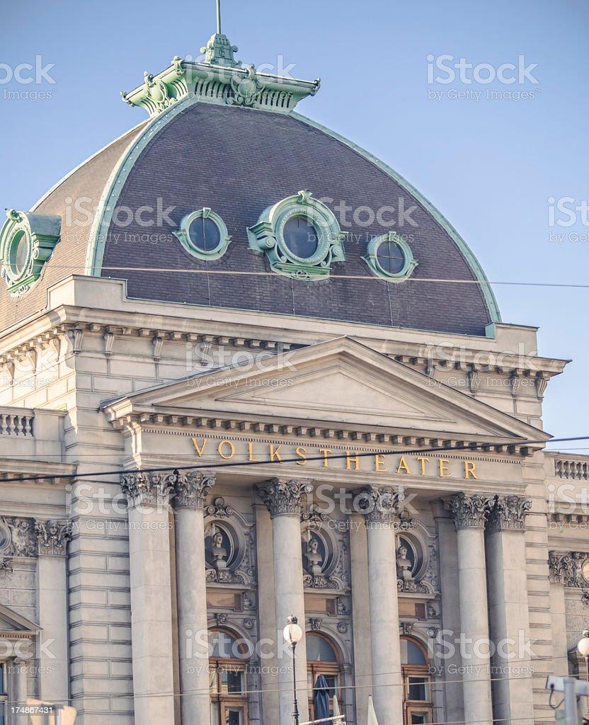 Volkstheater Vienna stock photo