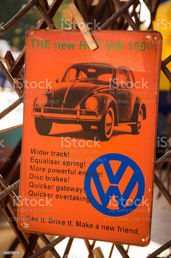 Volkswagen Always Knew How To Promote Sales stock photo