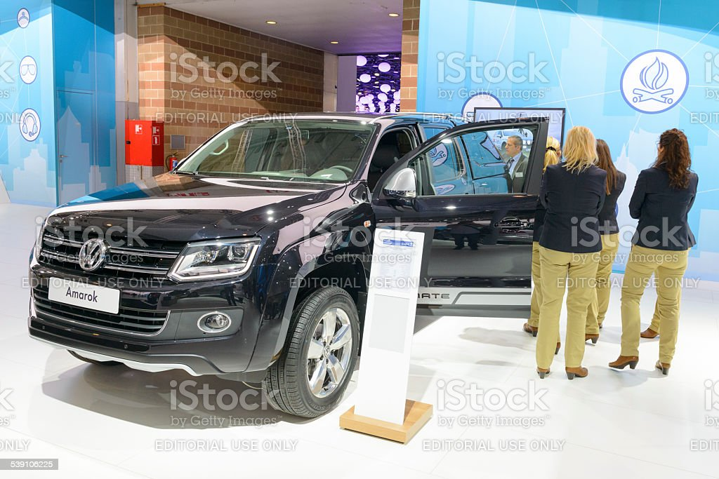Volkswagen Amarok Highline pickup truck stock photo
