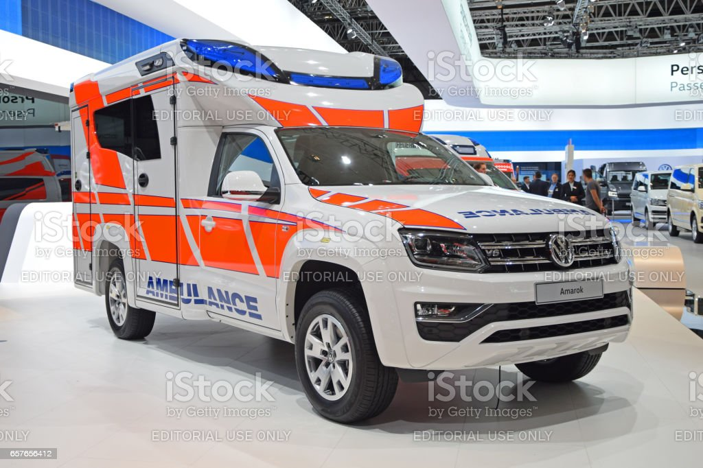Volkswagen Amarok in ambulance version stock photo
