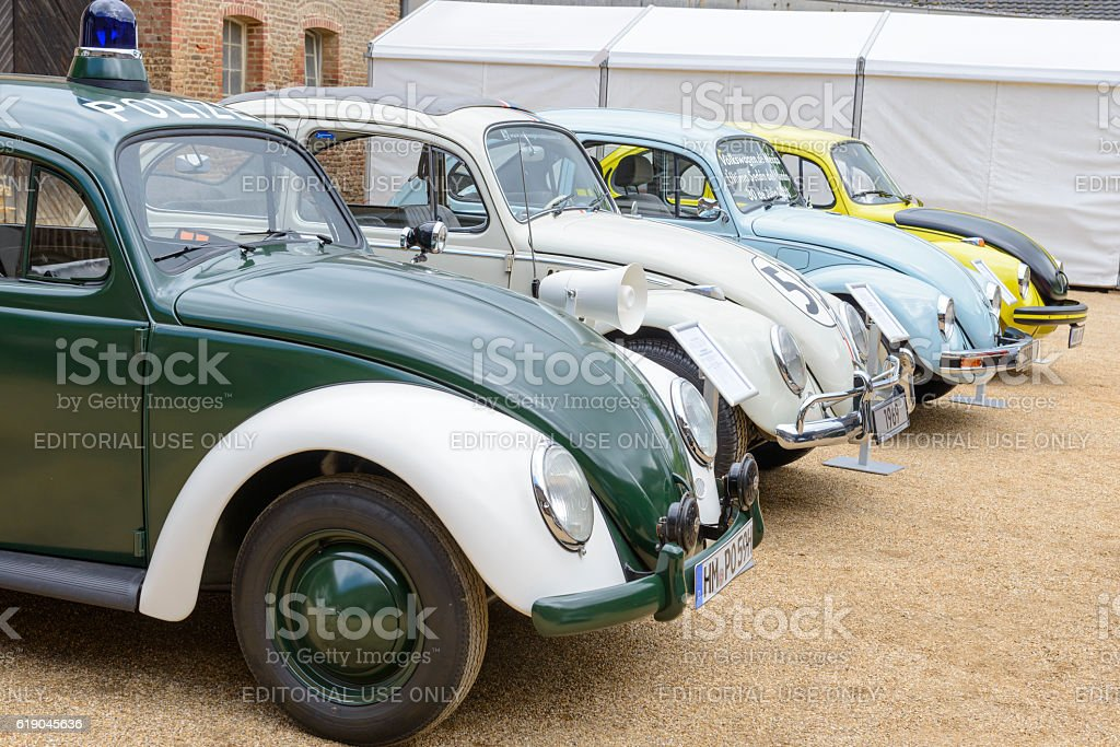 Volkswagen Beetle or VW Bug collection stock photo