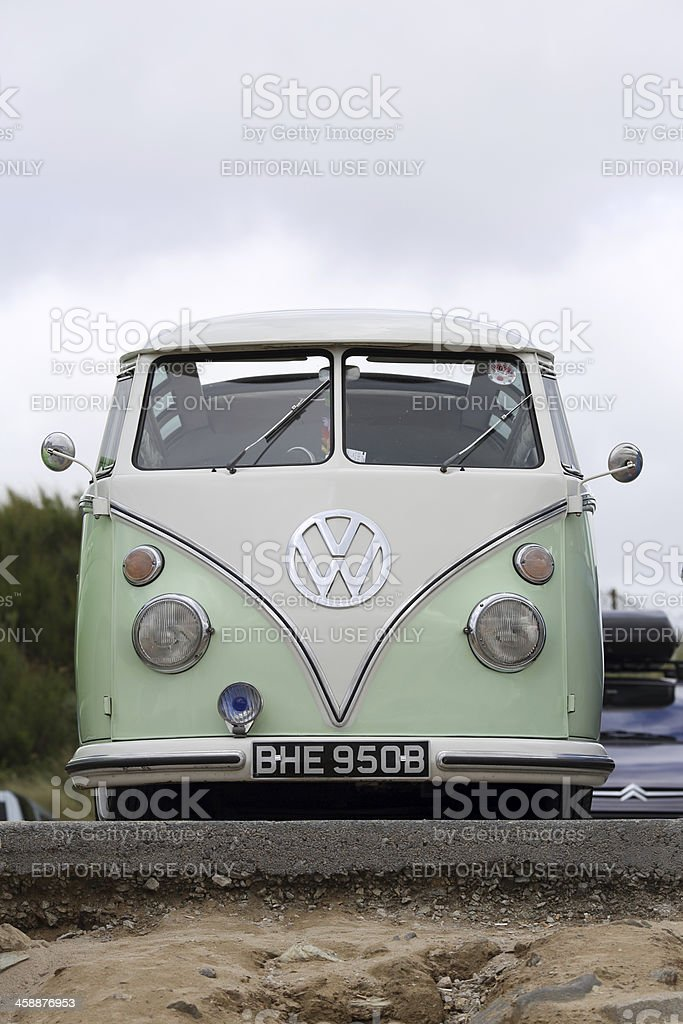 Volkswagen (VW) Camper Van Surf Bus stock photo