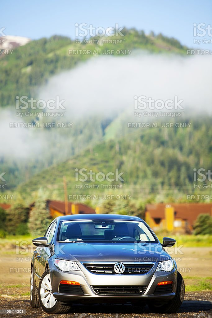 Volkswagen CC 2012 in High Mountain Setting stock photo