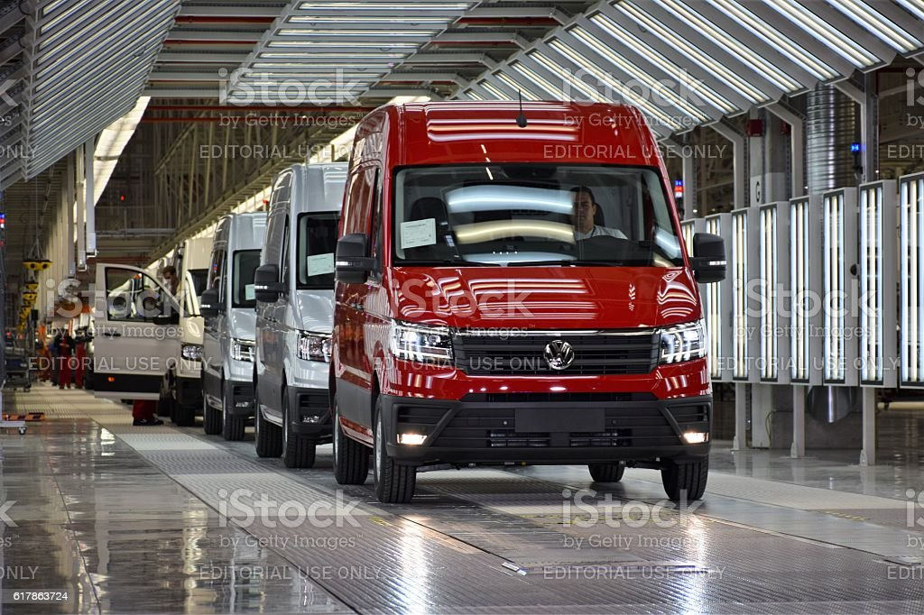 Volkswagen Crafter on the production line stock photo