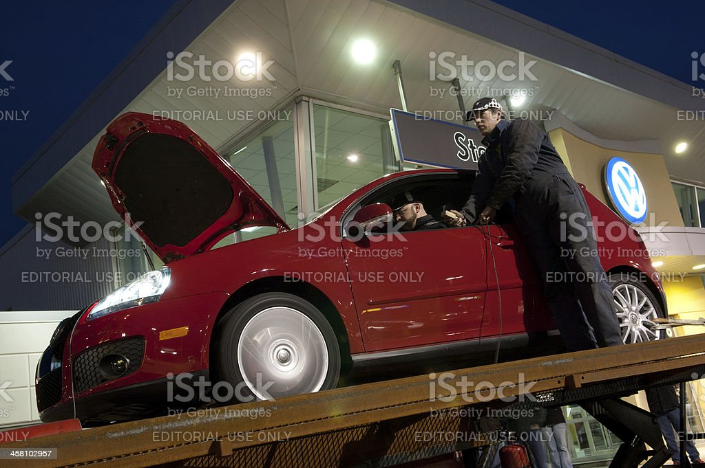 Volkswagen Dyno Testing stock photo