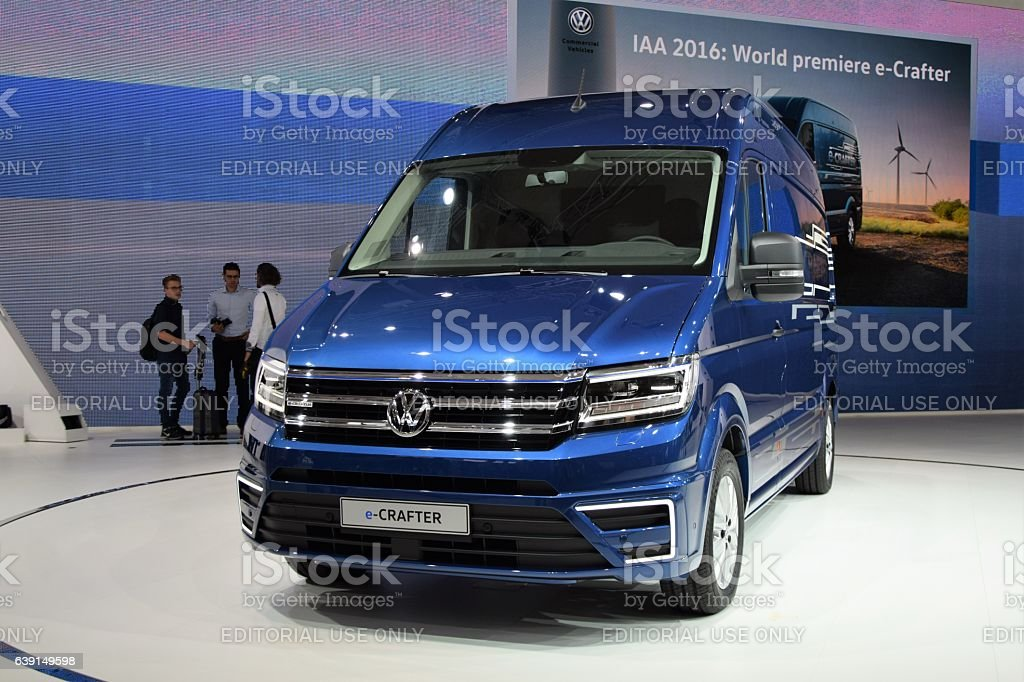 Volkswagen e-Crafter on the world premiere stock photo