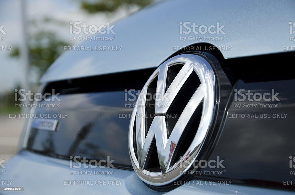 Volkswagen emblem stock photo