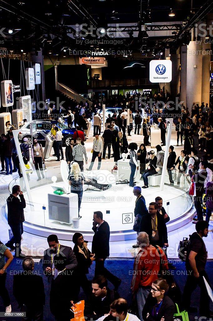 Volkswagen Exhibit at CES 2017 stock photo