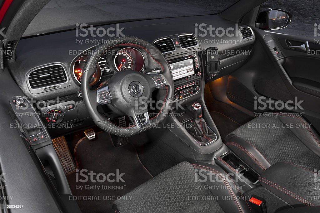 Volkswagen Golf GTI 35th interior royalty-free stock photo
