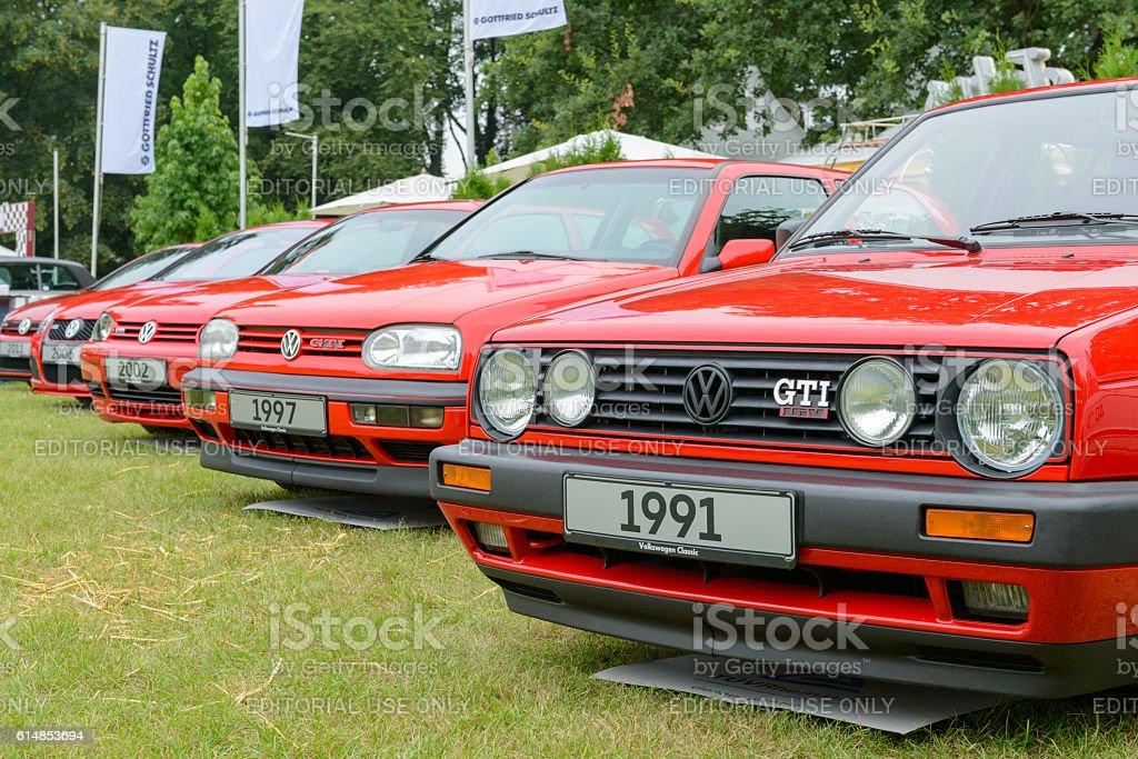 Volkswagen Golf GTI hatchback sports car stock photo