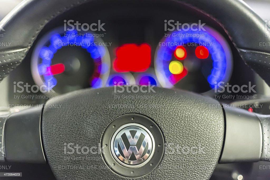 Volkswagen Golf GTI steering wheel stock photo