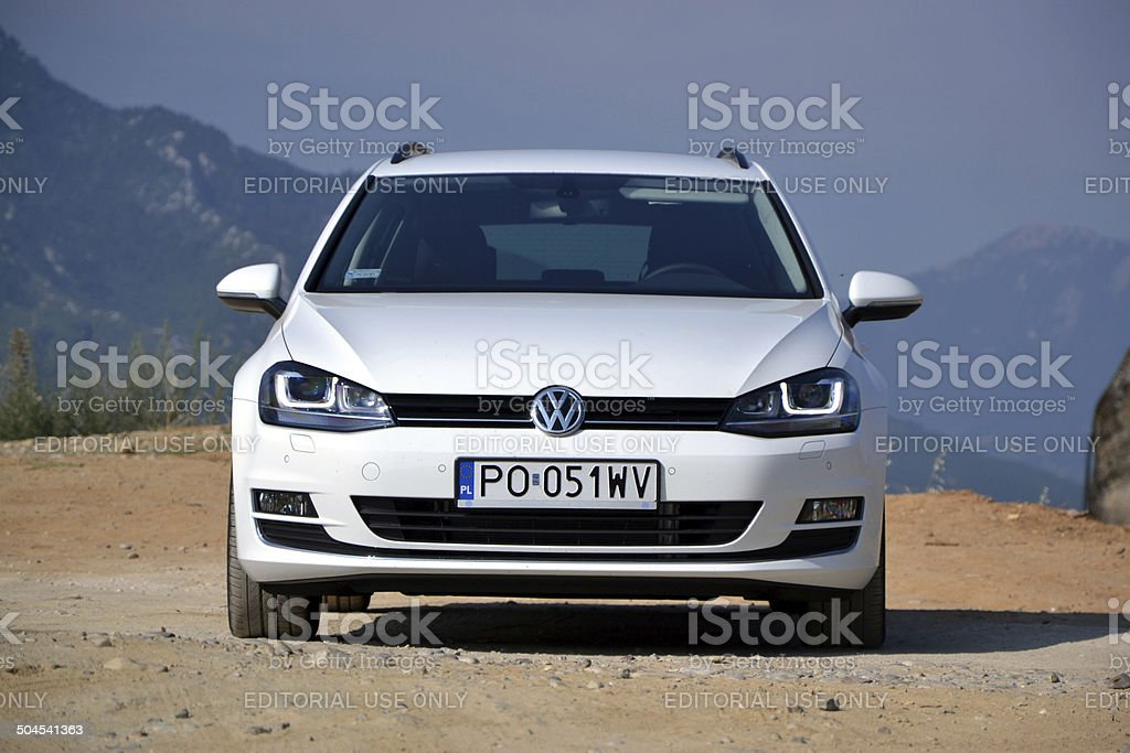 Volkswagen Golf Variant at the test drive stock photo