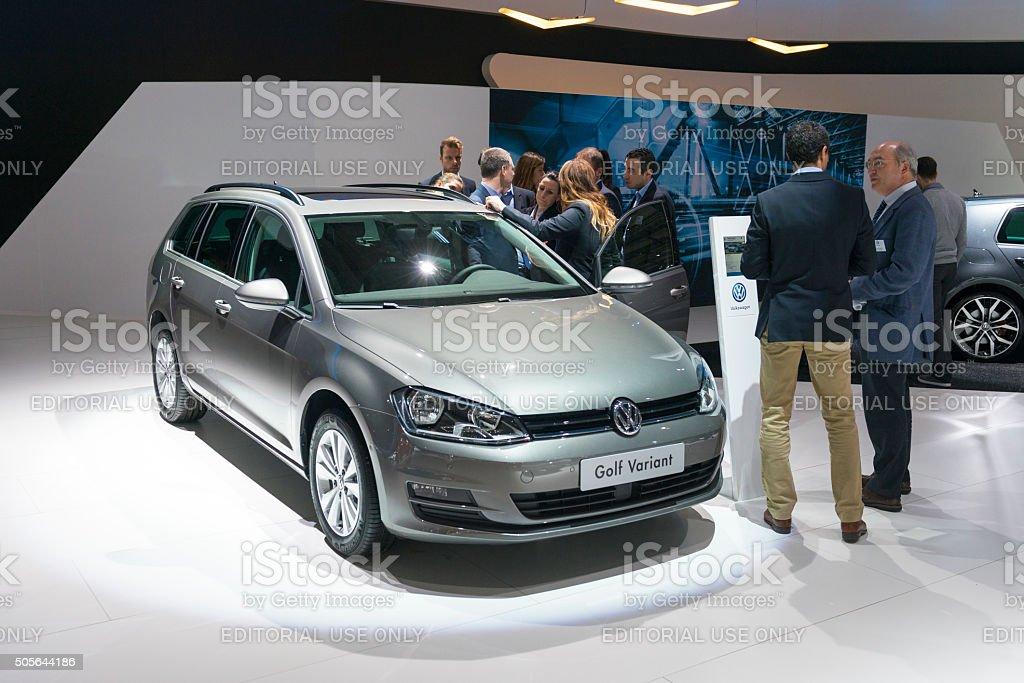 Volkswagen Golf Variant estate car stock photo