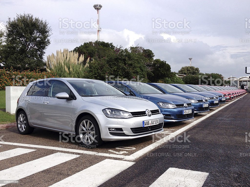 Volkswagen Golf VII royalty-free stock photo