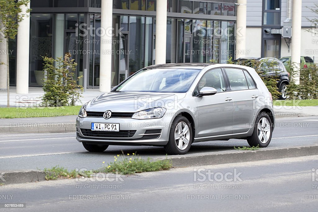 Volkswagen Golf VII royalty-free stock photo