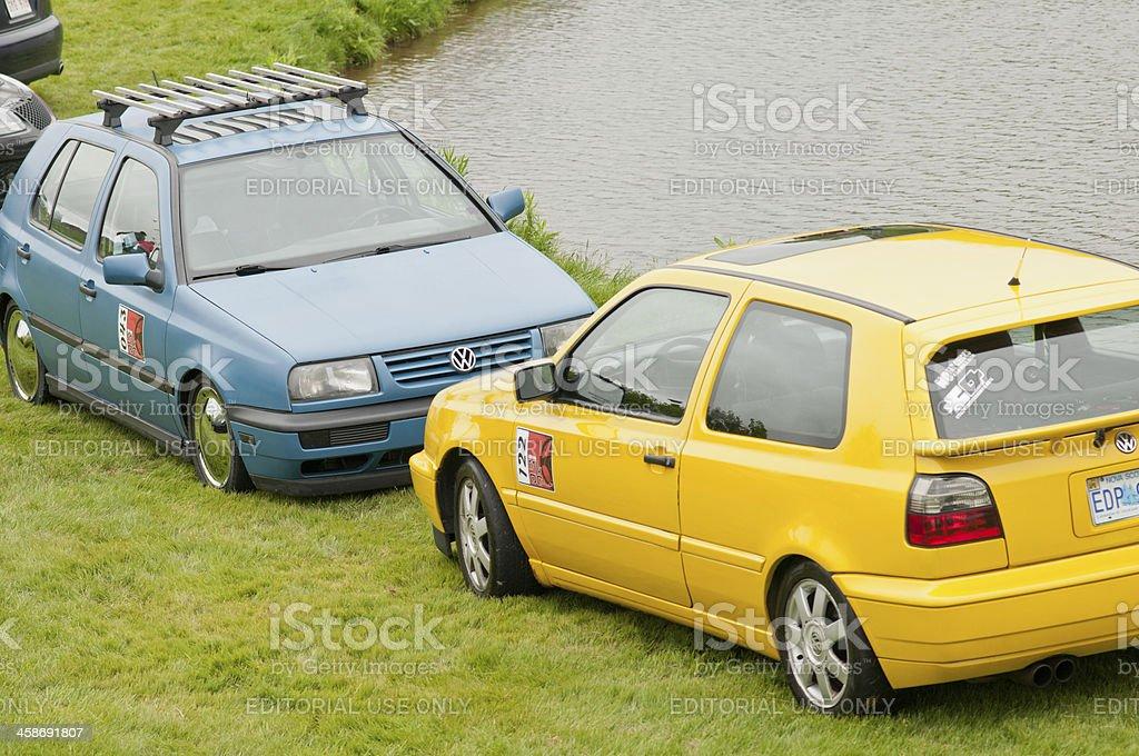 Volkswagen Golfs royalty-free stock photo