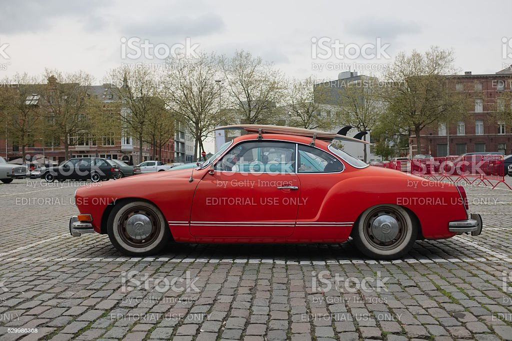 Volkswagen Karmann Ghia classic car stock photo