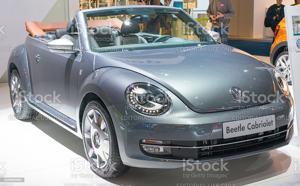 Volkswagen New Beetle convertible stock photo