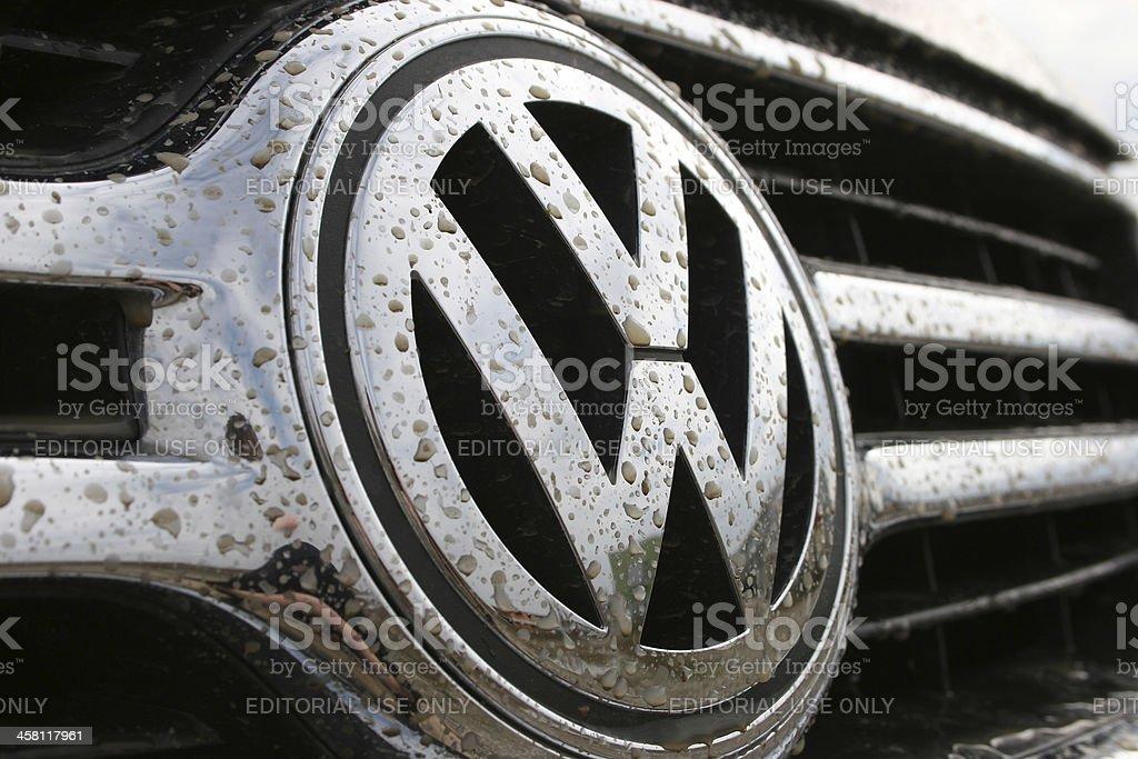 Volkswagen sign in dirt stock photo
