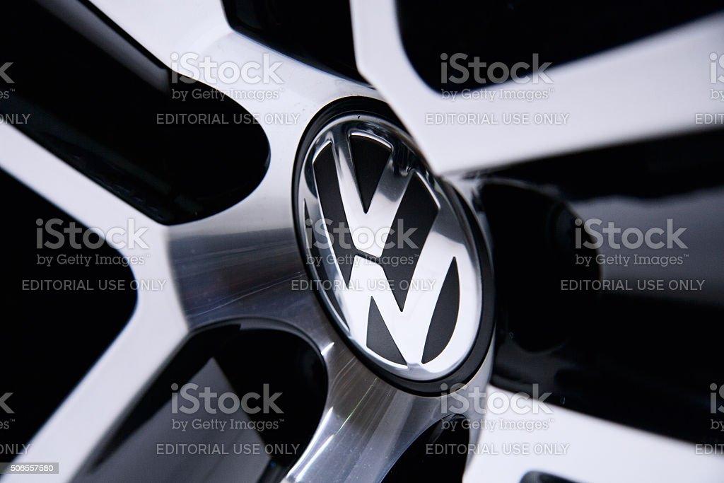Volkswagen sign stock photo
