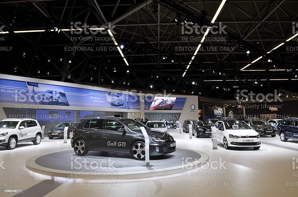 Volkswagen stand royalty-free stock photo