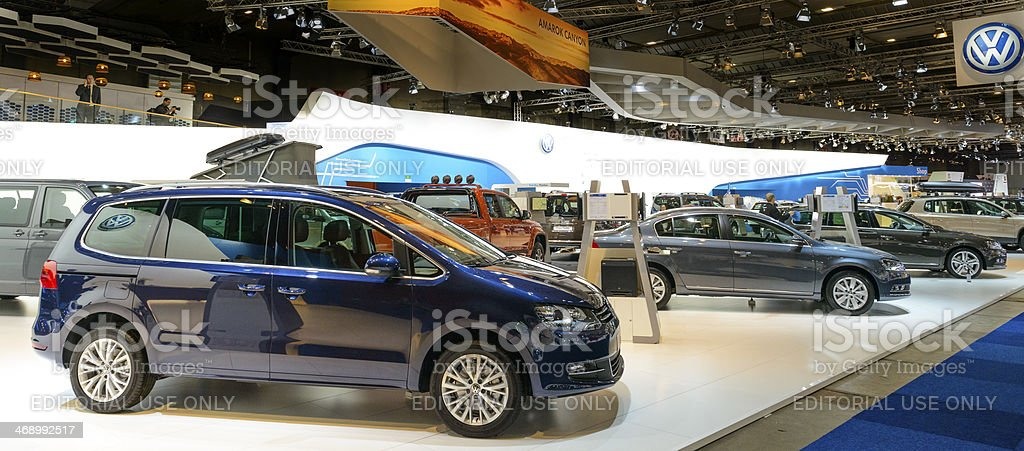 Volkswagen stand stock photo