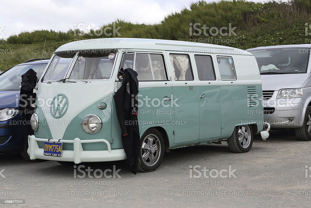 Volkswagen (VW) Surf Bus royalty-free stock photo