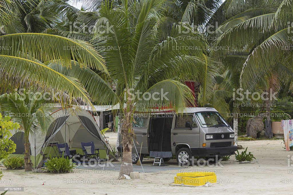 Volkswagen T3 Camper Westfalia stock photo
