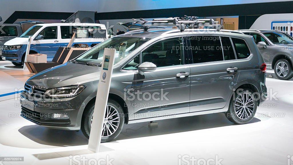 Volkswagen Touran compact MPV car stock photo