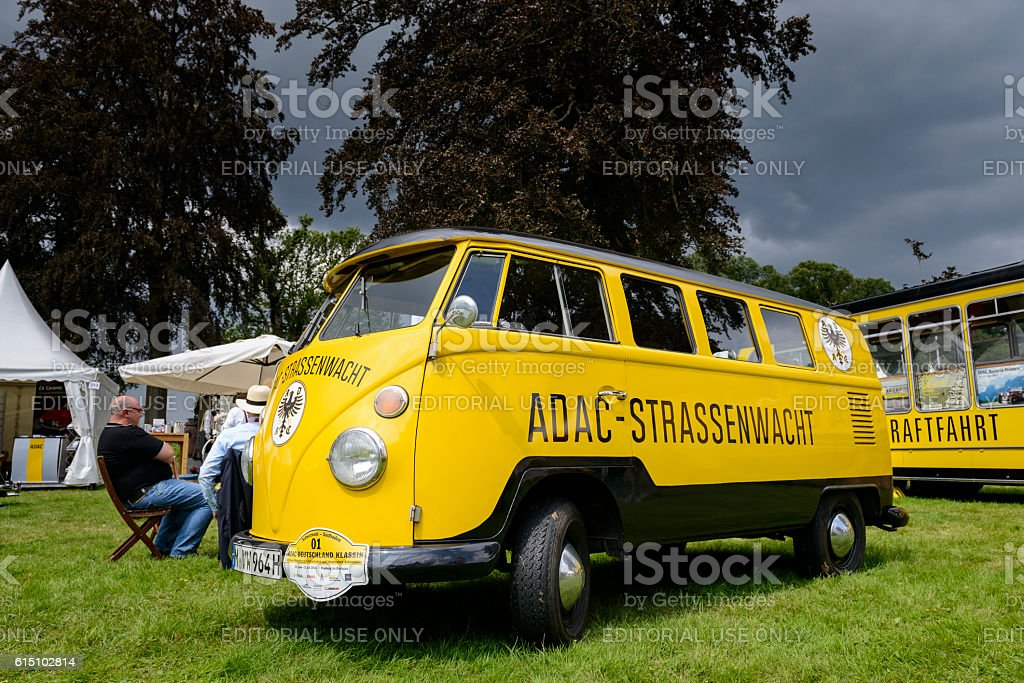 Volkswagen Transporter T1 ADAC roadside rescue van stock photo