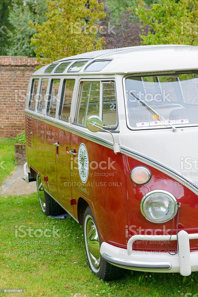 Volkswagen Transporter T1 classic panel van stock photo