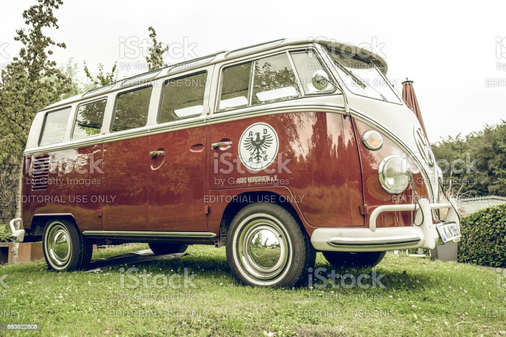 Volkswagen Transporter T1 classic van stock photo
