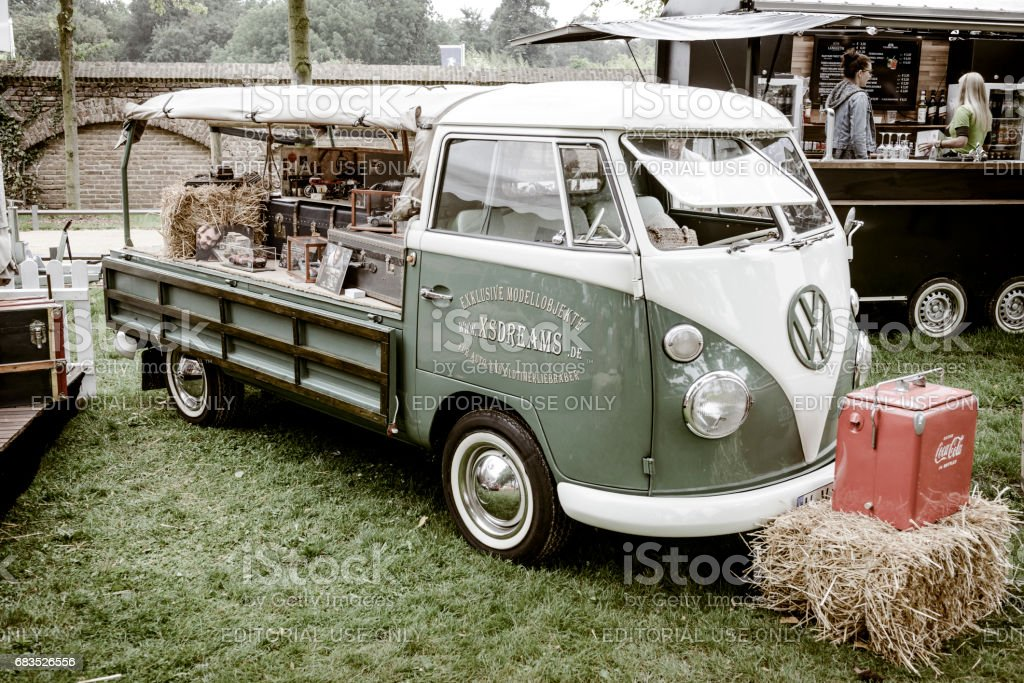 Volkswagen Transporter T1 flatbed classic van stock photo
