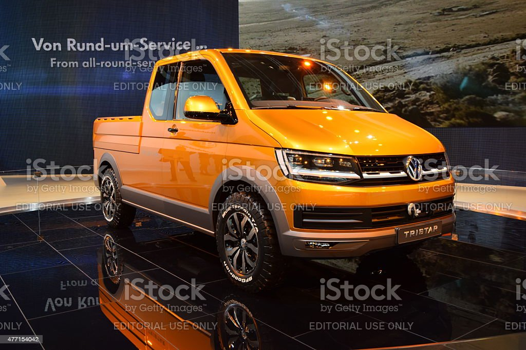 Volkswagen Tristar concept at the car show stock photo