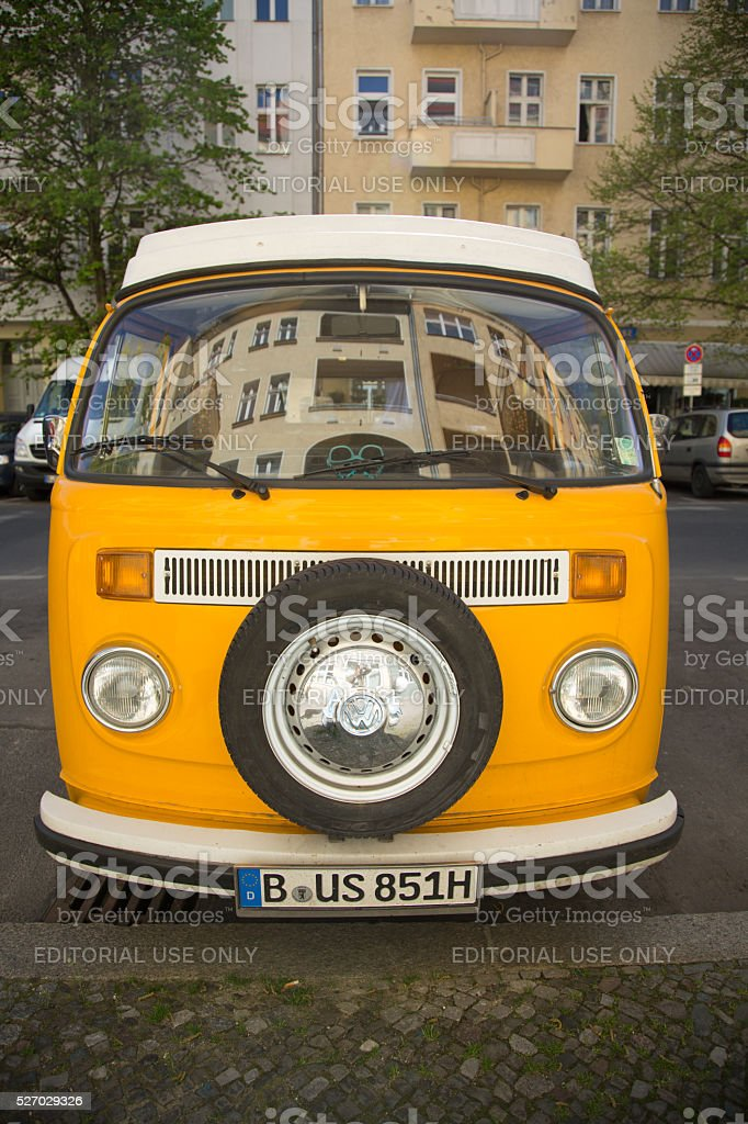 Berlin, Germany - April 21, 2016: Volkswagen van stock photo
