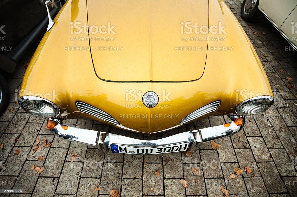 Volkswagen vintage car at oldtimer show stock photo