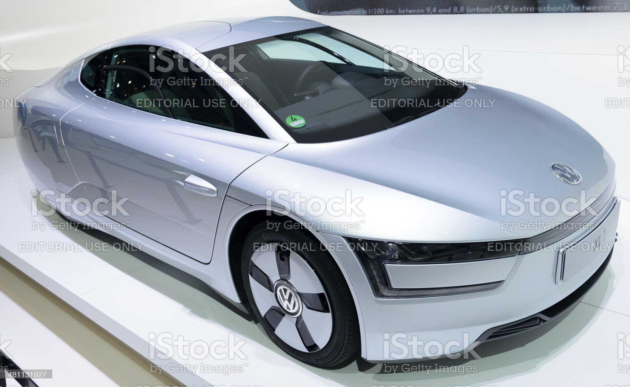 Volkswagen XL1 royalty-free stock photo