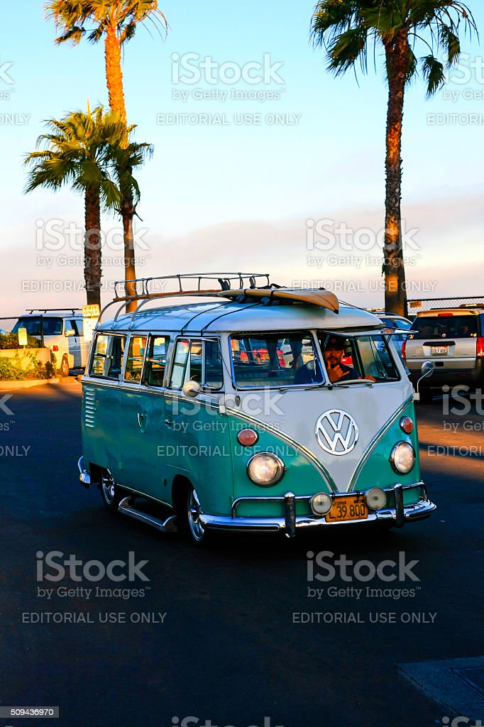 Volkswagon 1966 type-2 (T1) Kombi stock photo