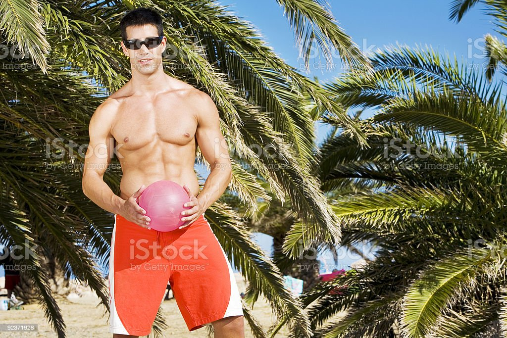 Volley at beach royalty-free stock photo