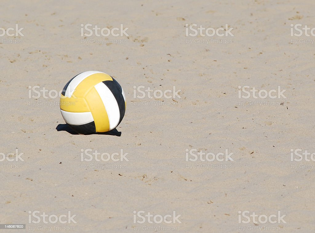 Volley ball on beach royalty-free stock photo