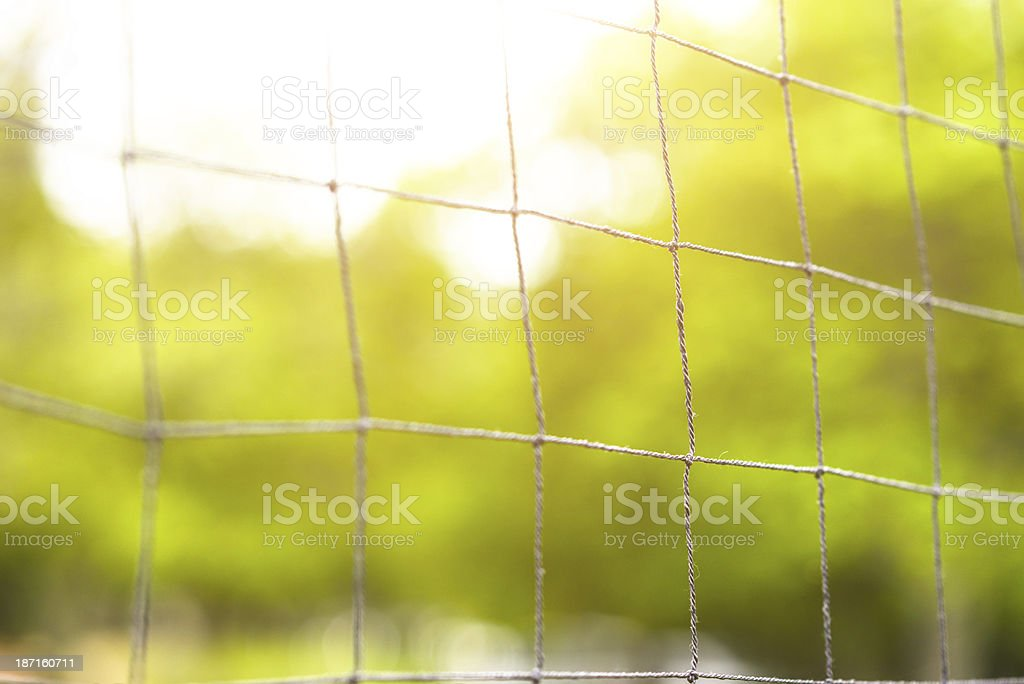 Volley net close up royalty-free stock photo