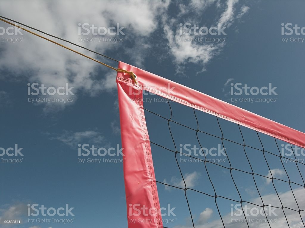 Volley Net Corner royalty-free stock photo