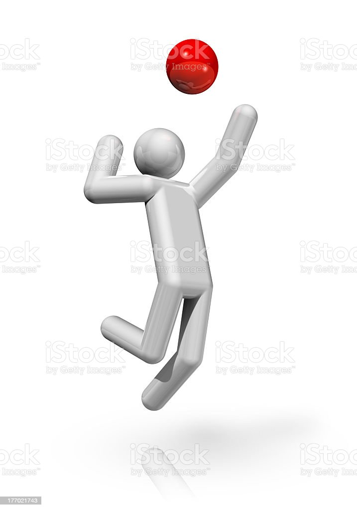 Volleyball 3D symbol royalty-free stock photo