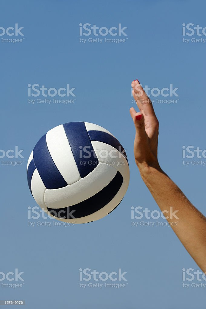 Volleyball action royalty-free stock photo