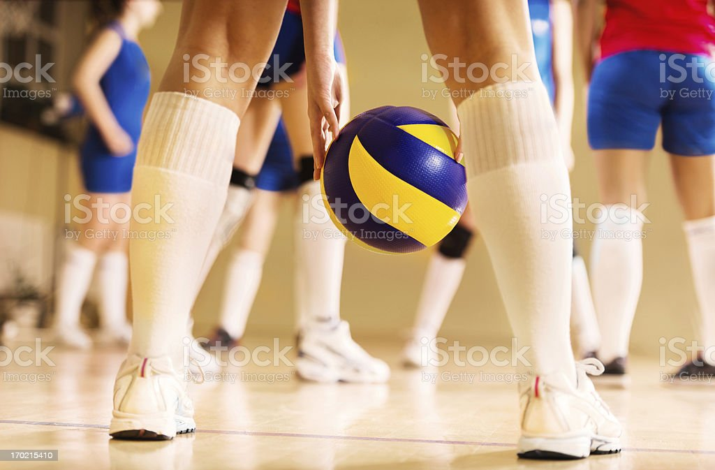 Volleyball action. royalty-free stock photo